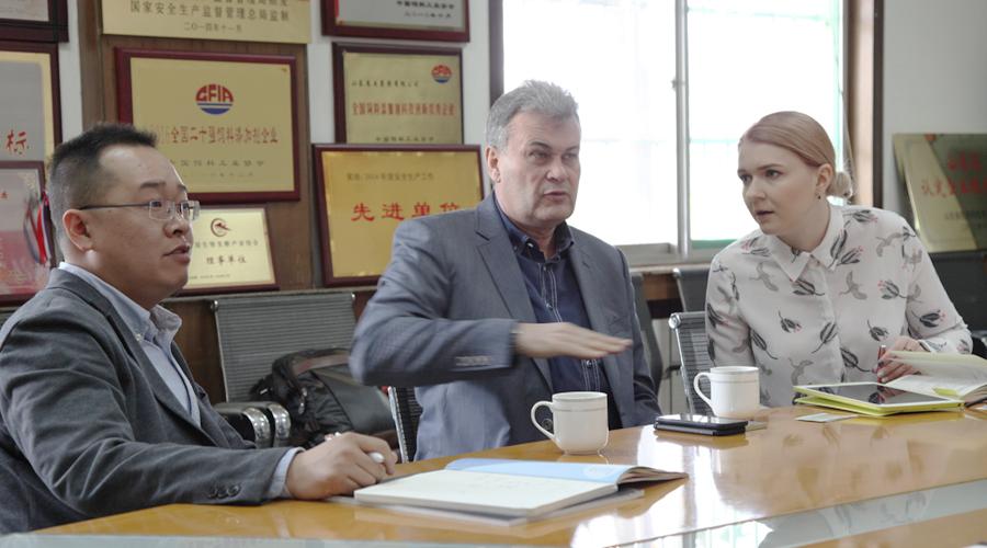 俄罗斯客户来我公司考察