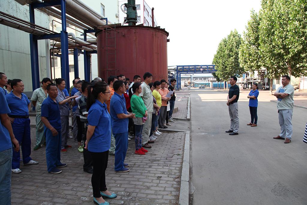 安全科组织开展液氨泄漏事故综合应急演练活动
