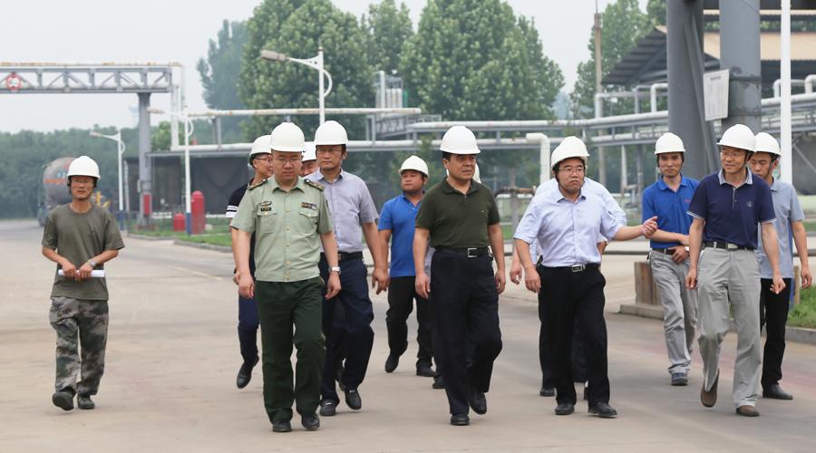 邹平县副县长、公安局长张海滨来我公司调研安全生产工作